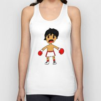 rocky Tank Tops featuring ROCKY by Christophe Chiozzi