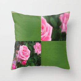 Pink Roses in Anzures 1 Blank Q5F0 Throw Pillow