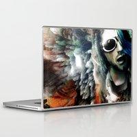 kurt cobain Laptop & iPad Skins featuring Kurt by Tordu Design JS Lajeunesse