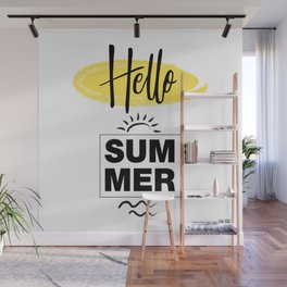 Hello Summer Typography Wall Mural