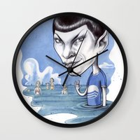 spock Wall Clocks featuring spock by ElenaTerrin