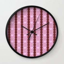 Pink Locket Wall Clock