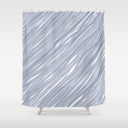 The silver sea - Simple light blue pattern Shower Curtain