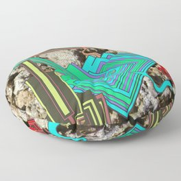 FUTURE FORMS OF EARTH (an adventure in neo-organics) Floor Pillow