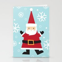santa Stationery Cards featuring Santa by Claire Lordon