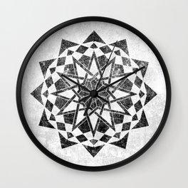 Grunge Geometric Mandala Wall Clock