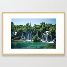 Kravica waterfalls Framed Art Print