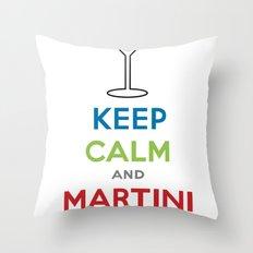 Keep Calm and Martini On Throw Pillow