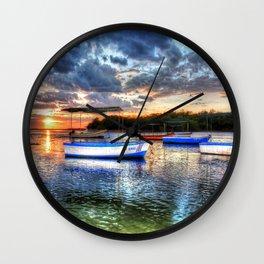 Estuary Sunset Costa Rica Wall Clock