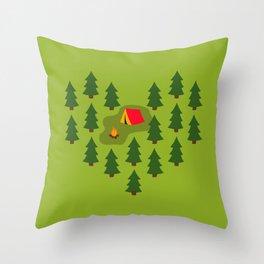 Camping Love Throw Pillow