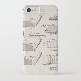 Golf Clubs Patent - Golfing Art - Antique iPhone Case