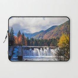 Autumn foliage at the alpine lake Laptop Sleeve