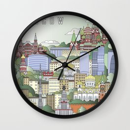Moscow City Poster Wall Clock