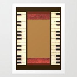 Piano Keys Frame Border 1 Art Print