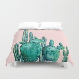 cactus jungle watercolor painting Duvet Cover