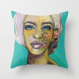 Bea Turquoise Throw Pillow