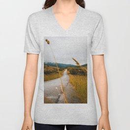 The Roadside Path (Color) Unisex V-Neck