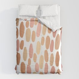 Dabs metallic dot abstract minimal painting shiny copper gold art and decor Comforters