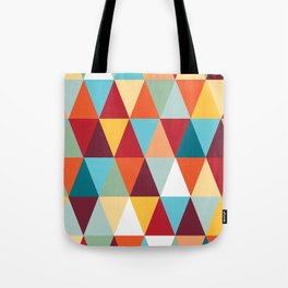 Geometric Color #abstract #bright #triangles Tote Bag