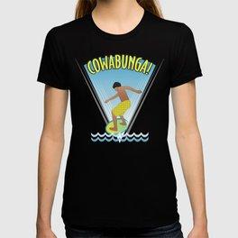 Cowabunga Flow-boarding Pop Art T-shirt