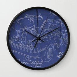 Time Machine Blueprint Wall Clock