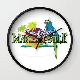 jimmy buffetts margaritaville Wall Clock