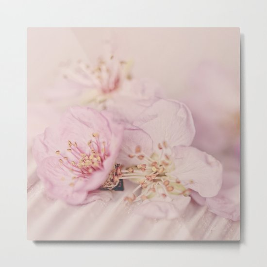 Romantic Soft Pink Peach Blossom Metal Print