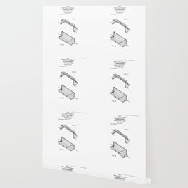 Water Polo Goal Vintage Patent Hand Drawing Wallpaper