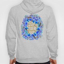 The Earth Laughs in Flowers – Gold & Blue Hoody