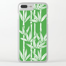 Bamboo Rainfall in Sullivan Green/White Clear iPhone Case