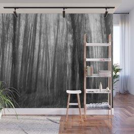 Creepy trees, black and white Wall Mural