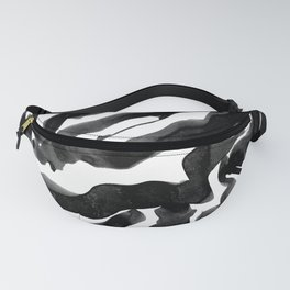 Bold Ink Stripes in Black and White Fanny Pack