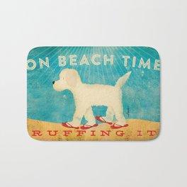 Beach Life Doodle by Stephen Fowler Bath Mat