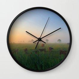 Par un matin de brume Wall Clock