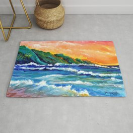 Romantic Kauai Sunset Rug