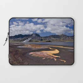 Iceland volcanic mountains at summer day Laptop Sleeve