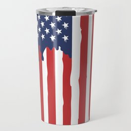 Bleeding American Flag of a US Patriot Travel Mug