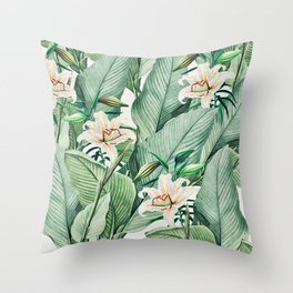 Tropical state Throw Pillow