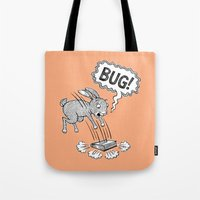 bug Tote Bags featuring BUG! by Laurie A. Conley