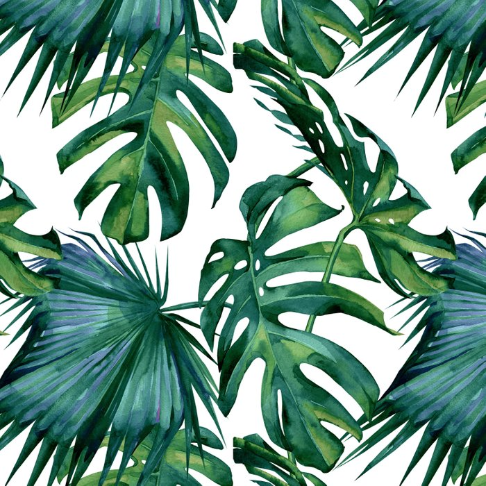 Classic Palm Leaves Tropical Jungle Green Comforters By