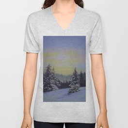 Winter Sunrise Unisex V-Neck