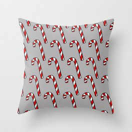 Candy Cane Pattern Throw Pillow