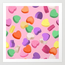 Valentine's Day Candy Art Print