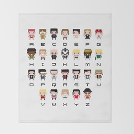 Rock Music Alphabet Throw Blanket