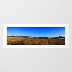Namafjall geothermal Iceland Panorama Art Print