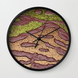 Sparkle Landscape / Abstract Acrylic Painting Wall Clock