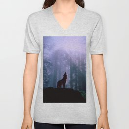 Wolf in the Woods Unisex V-Neck