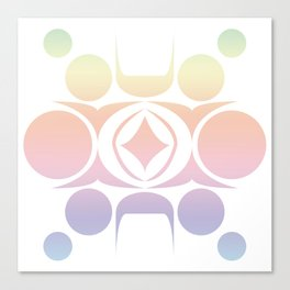 Future Abstract Alien Symbol Cotton Candy Canvas Print