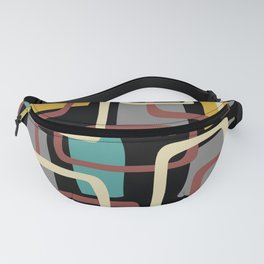 Mid Century Modern Overlapping Squares Pattern 139 Fanny Pack