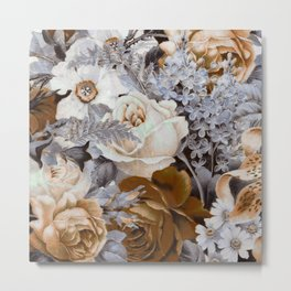 wintery floral Metal Print